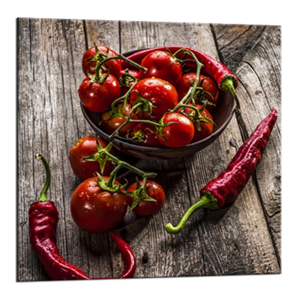Obraz Styler Glasspik Peppers, 20×20 cm
