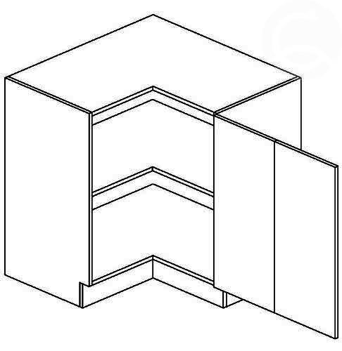 DRP 90x90 P/L dolná rohová skrinka vhodná ku kuchyni FALA