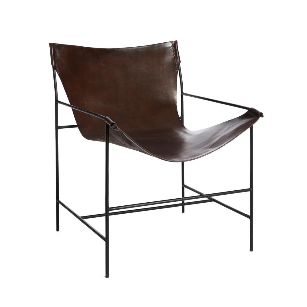 Hnedá stoličky z pravej kože Simla Relax