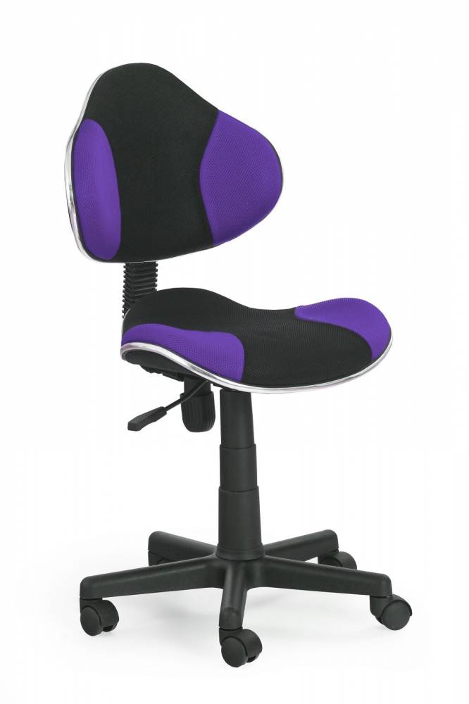 Detská stolička Flash čierna + fialová