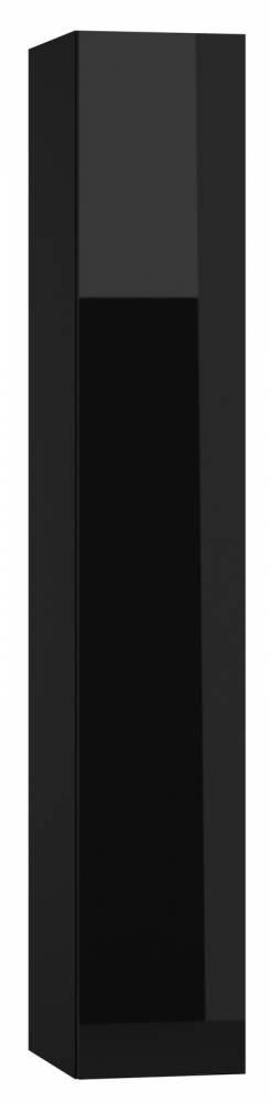 Skrinka na stenu Vigo 180 plné dvierka čierna