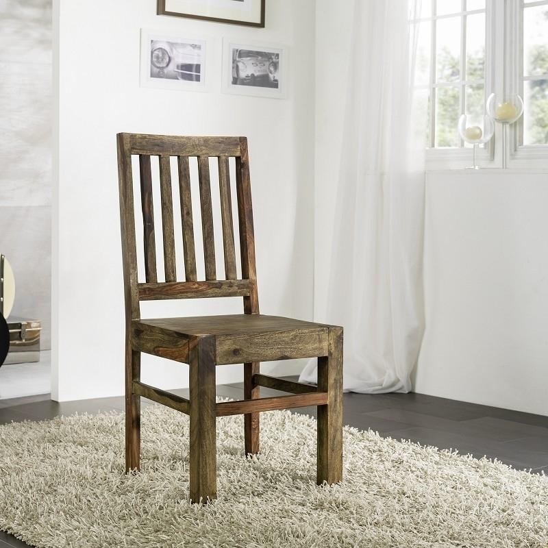 PURE SHEESHAM stolička #71 olejovaný indický palisander, sivá