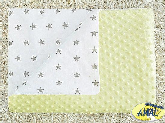 AMAL Deka MINKY Hviezdičky, krémová, 75x100 cm