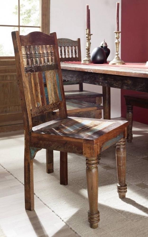 RAPUNZEL stolička #05 lakované staré indické drevo
