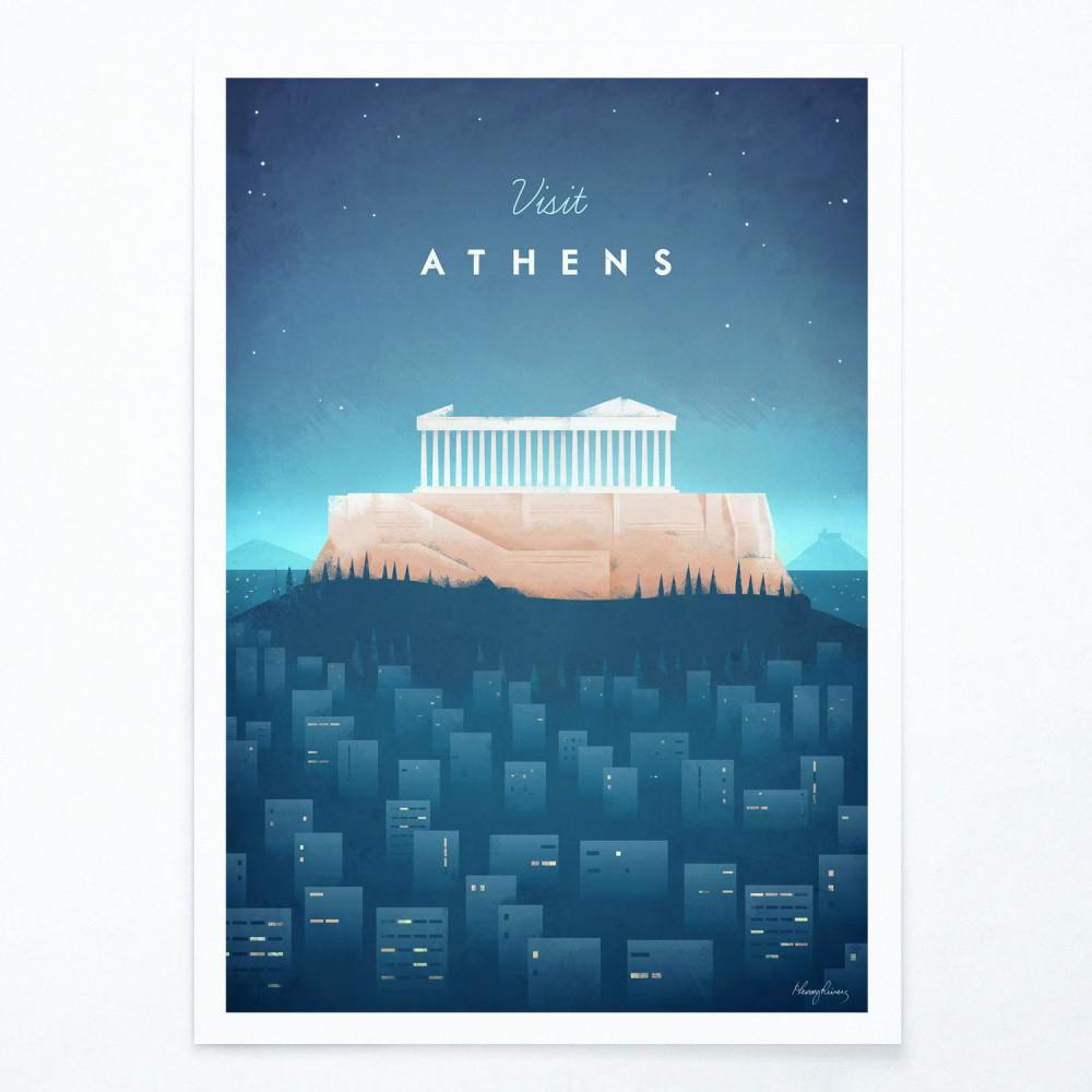 Plagát Travelposter Athens, A2