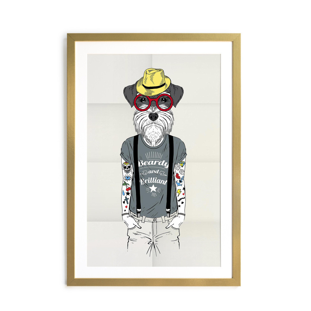 Obraz Really Nice Things Today Hipster Dog, 40 x 60 cm