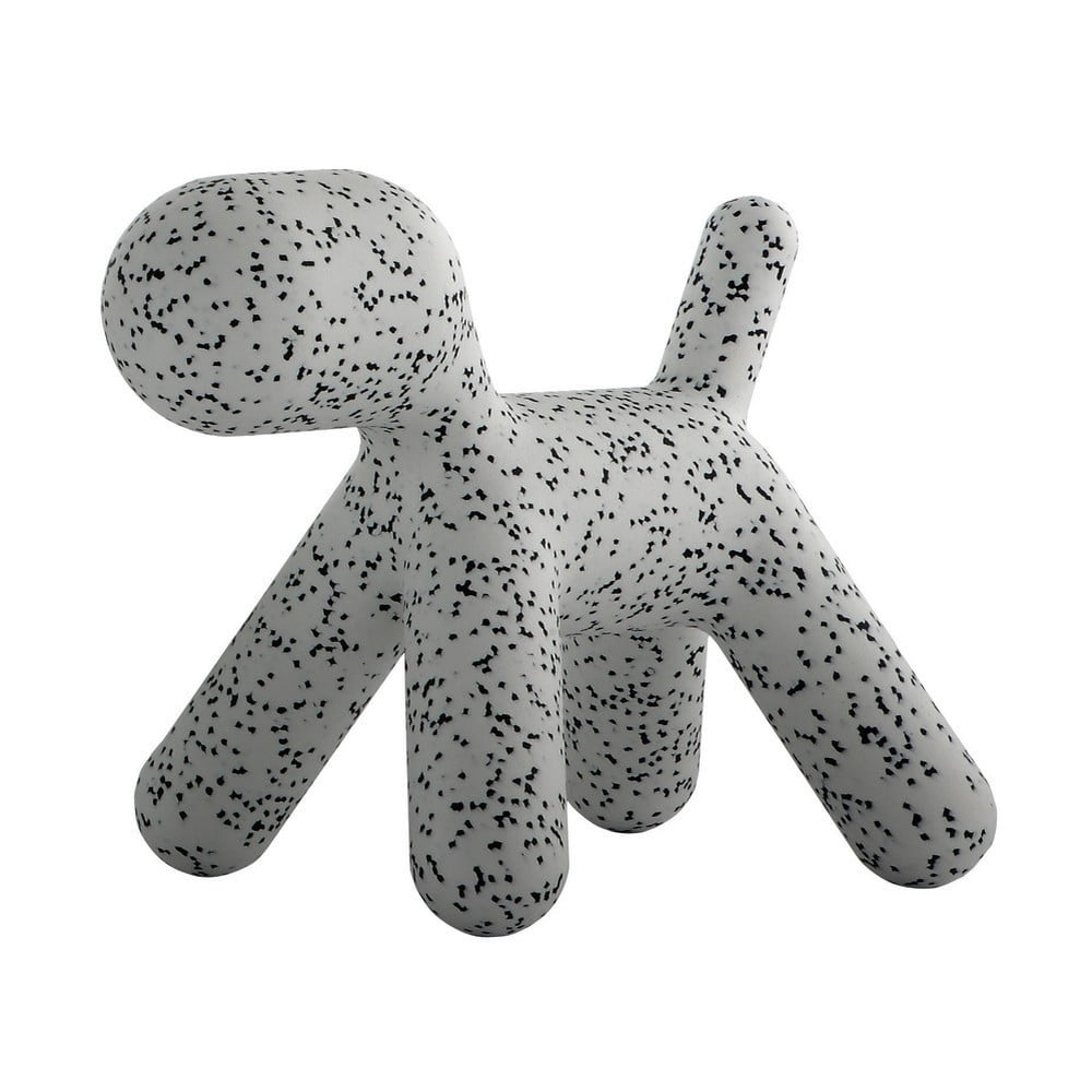Sivo-čierna detská stolička v tvare psa Magis Puppy, výška 34,5 cm