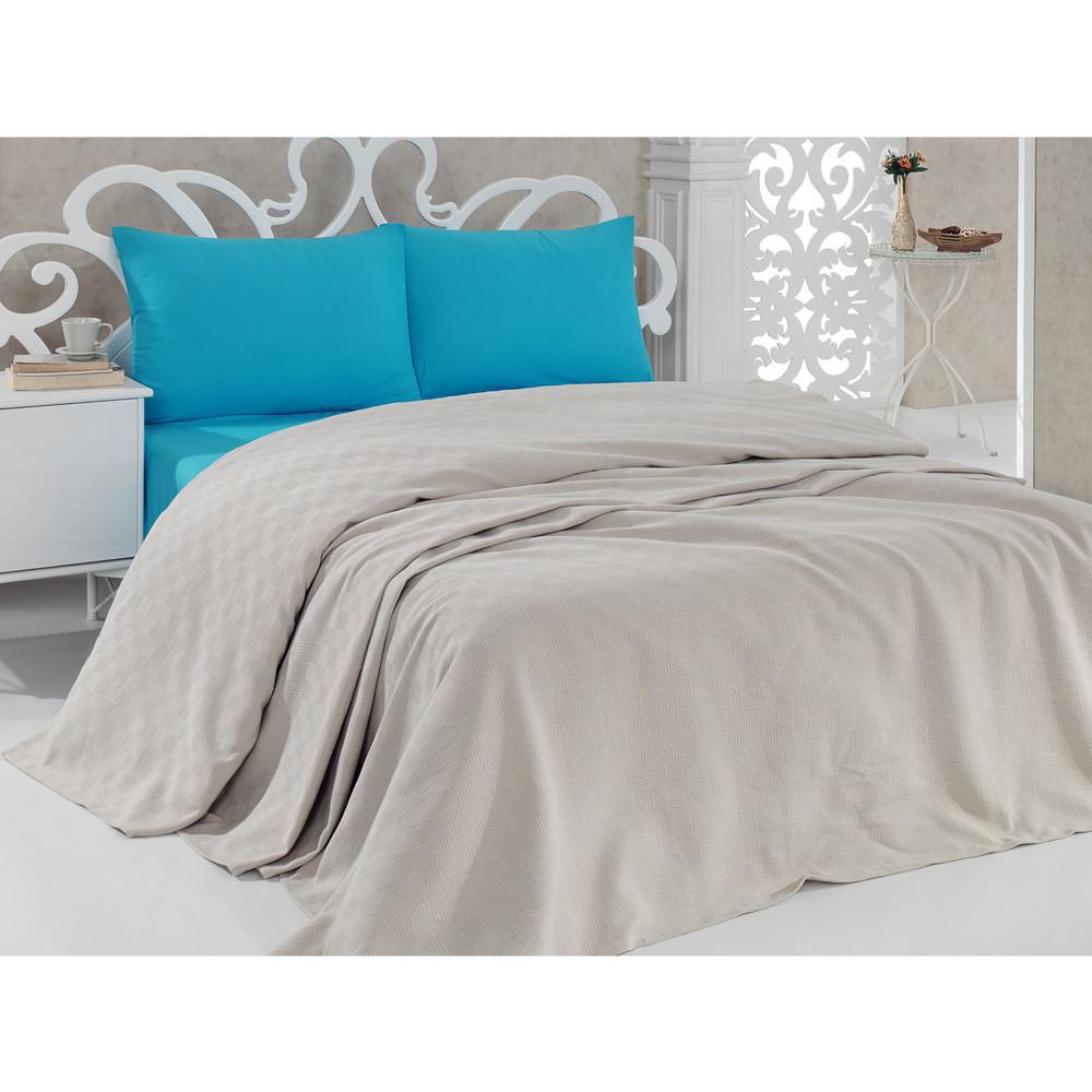 Prikrývka na posteľ Pique Beige, 200x240 cm