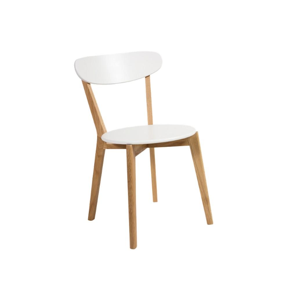 Biela jedálenská stolička Signal Milan