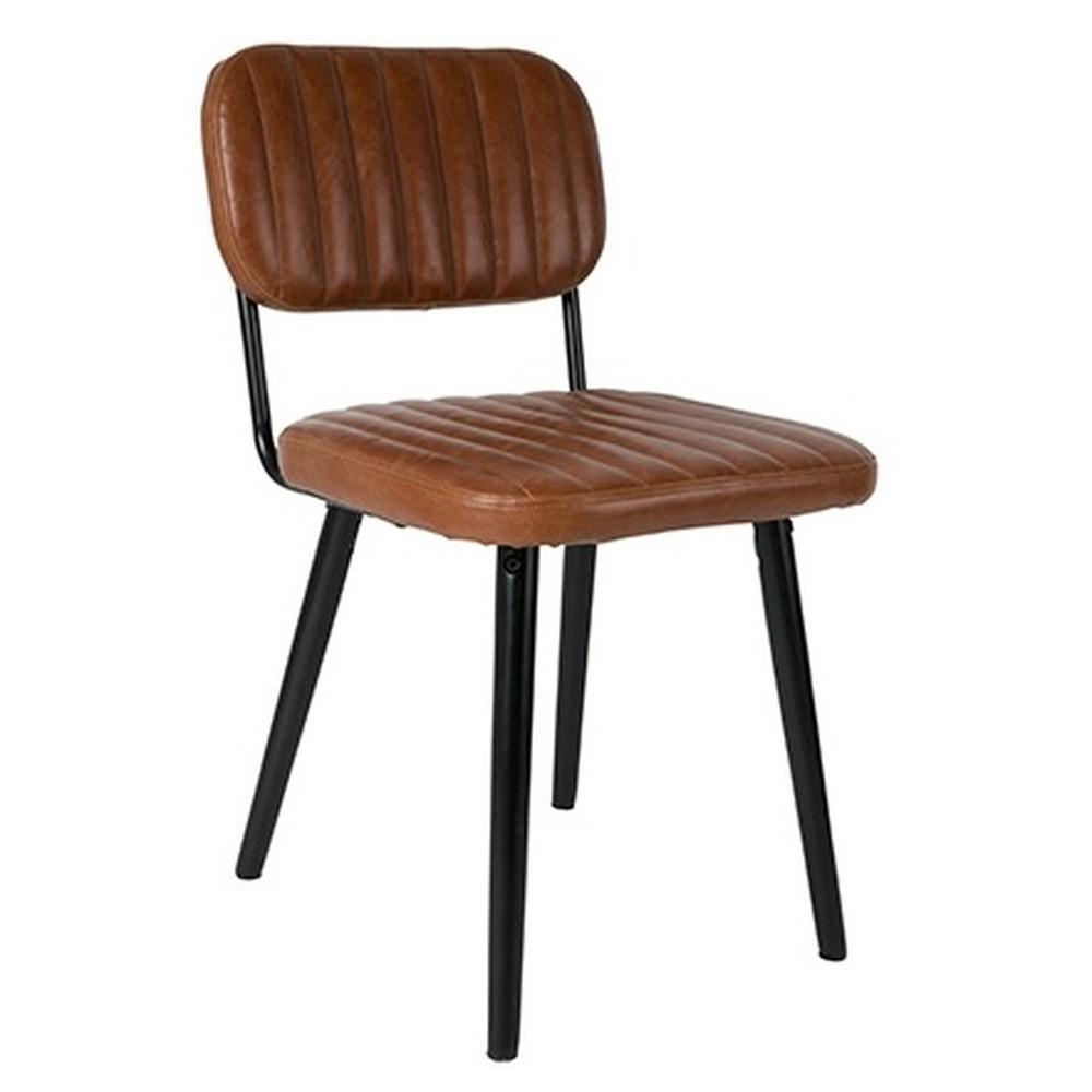 Hnedá stolička White Label Jake Worn