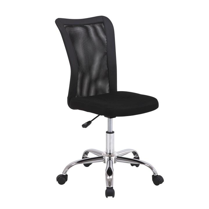 Kancelárske kreslo, látka+chróm, čierna, IDOR