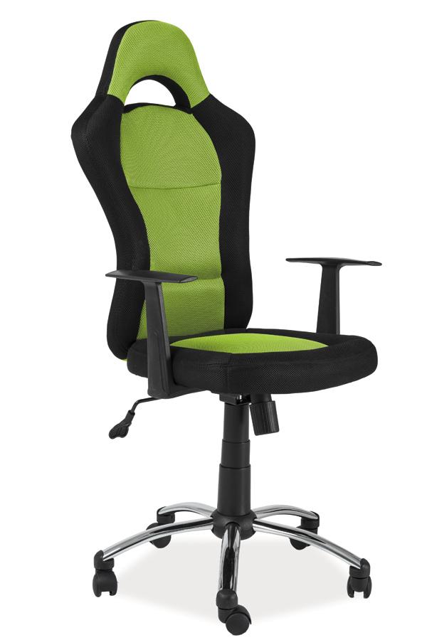 Kancelárske kreslo Q-039   Farba: zelená / čierna