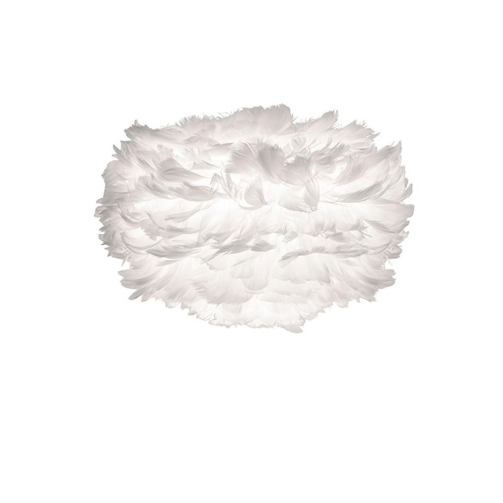 Biele svietidlo z husieho peria VITA Copenhagen EOS, Ø 20 cm