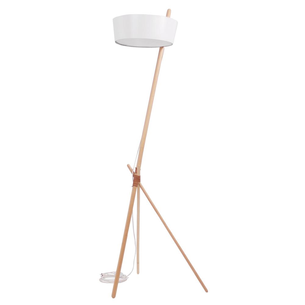 Biela voľne stojacia lampa Woodendot Ka L