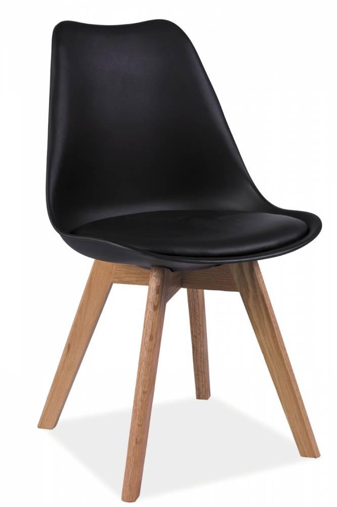 Jedálenská stolička Kris (čierna + dub)