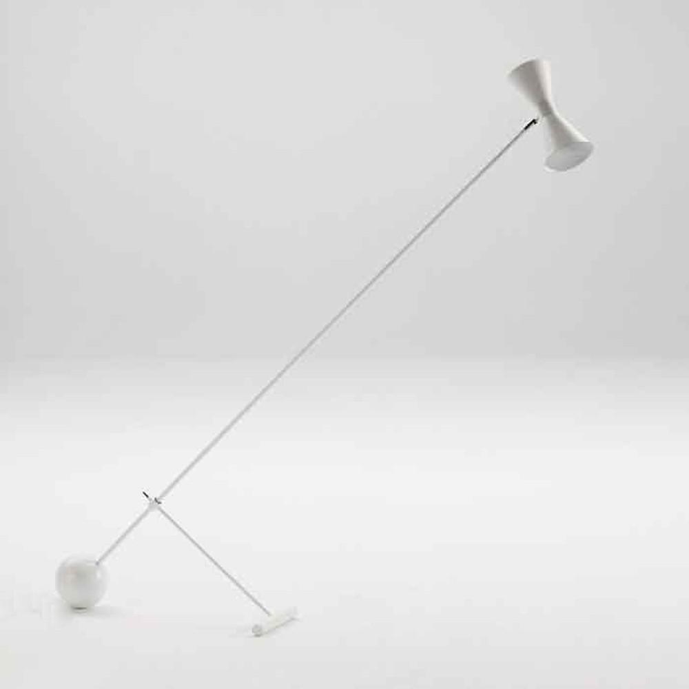 Biela voľne stojacia lampa Thai Natura Standard