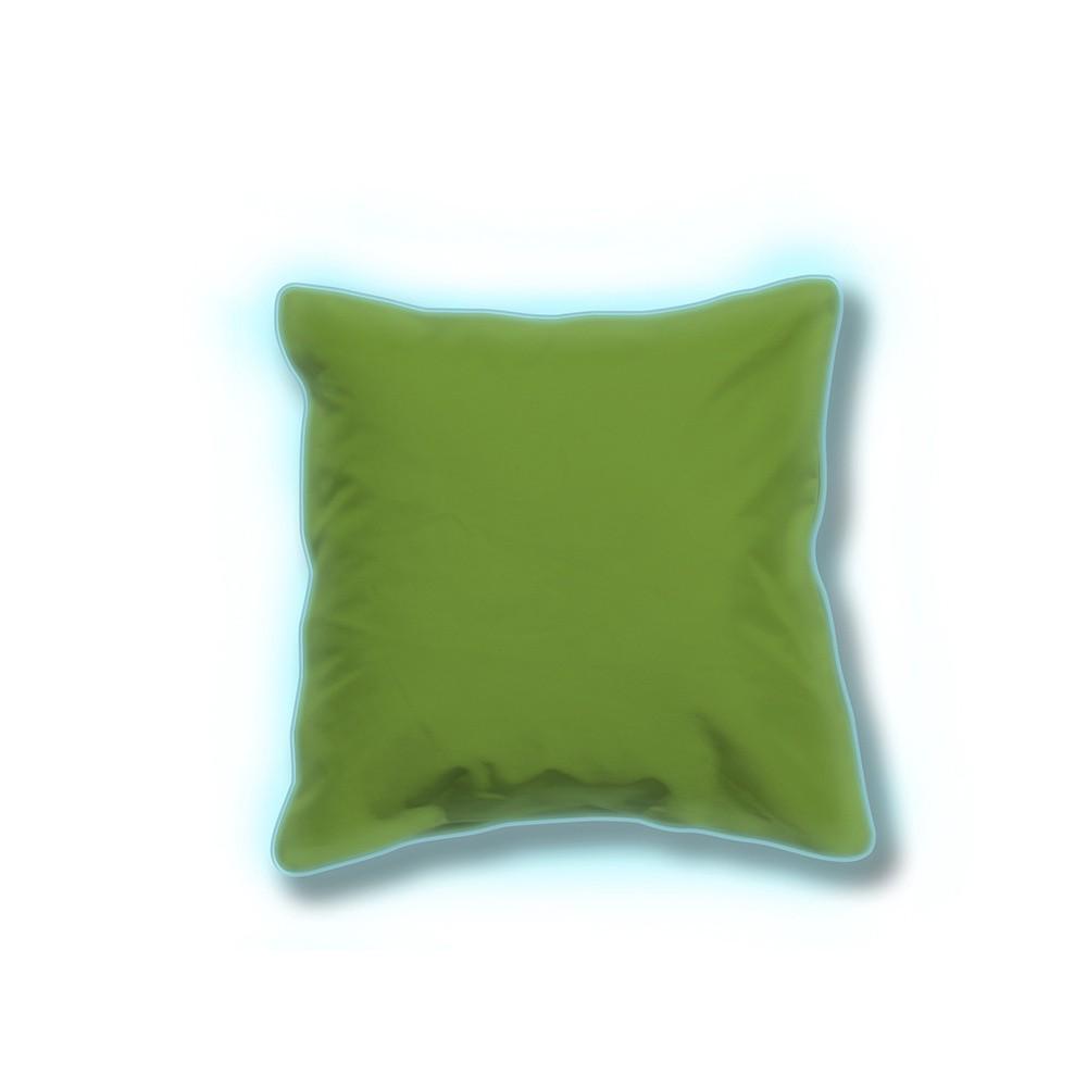 Sada 2 zelených svietiacich vonkajších vankúšikov Sunvibes, 65×65 cm