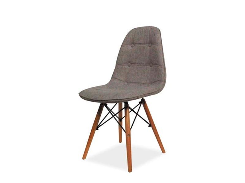 Jedálenská stolička LEXA, buk/šedá látka