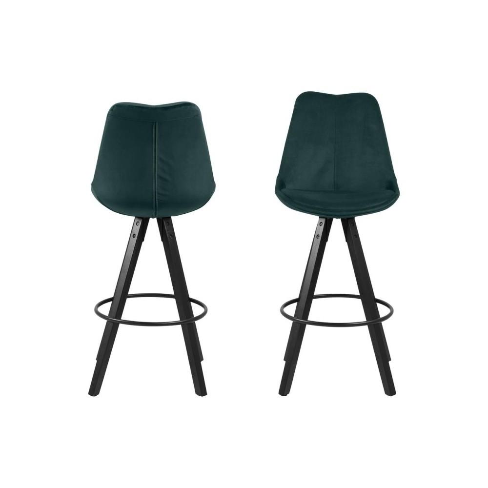 Sada 2 zelených barových stoličiek Actona Dima