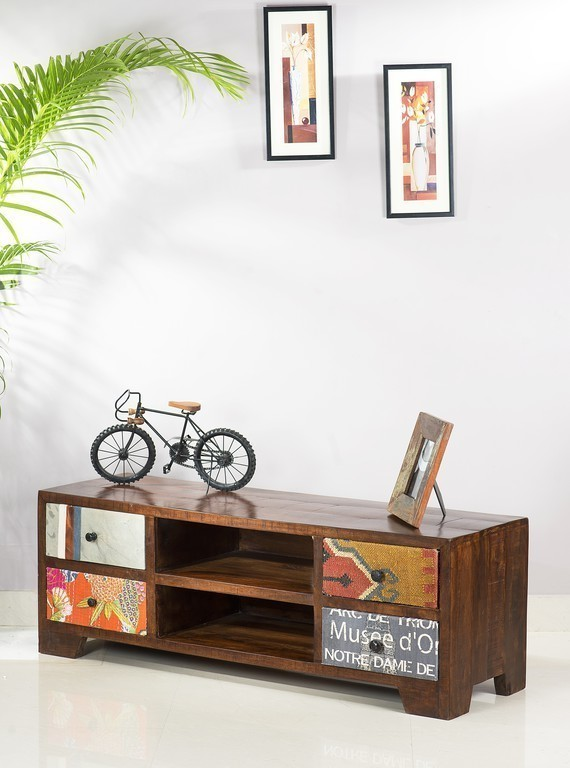TV stolík WOODY 130 cm - hnedá