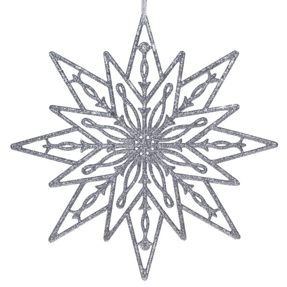Závesná dekorácia v striebornej farbe Ewax Estrella