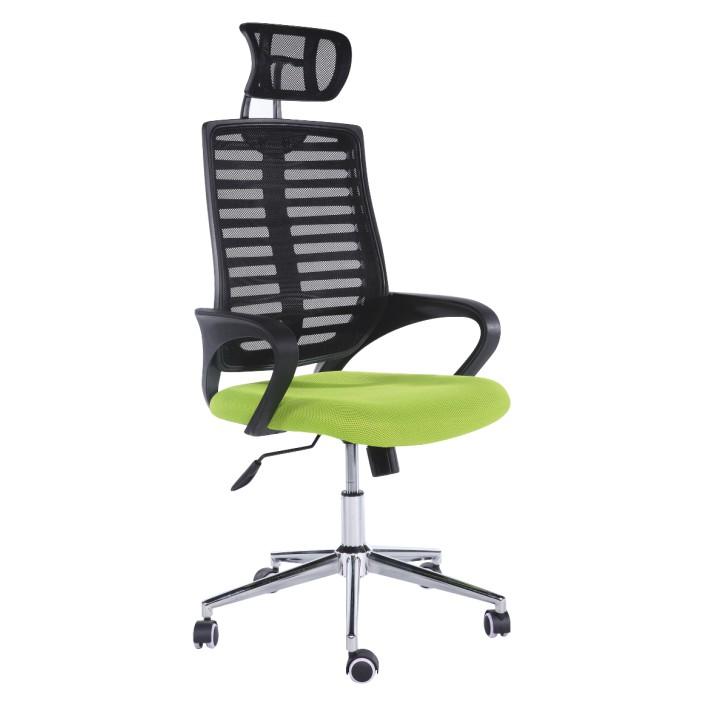 Kancelárska stolička Flore (čierna + zelená)