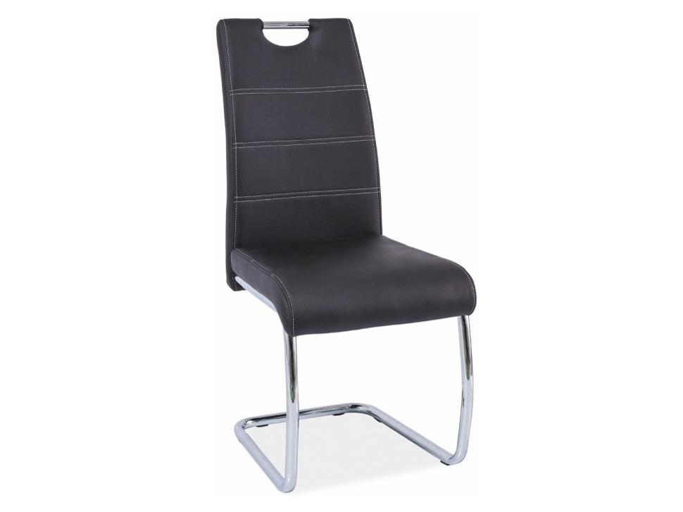 Jedálenská stolička Abira new (čierna + chróm)