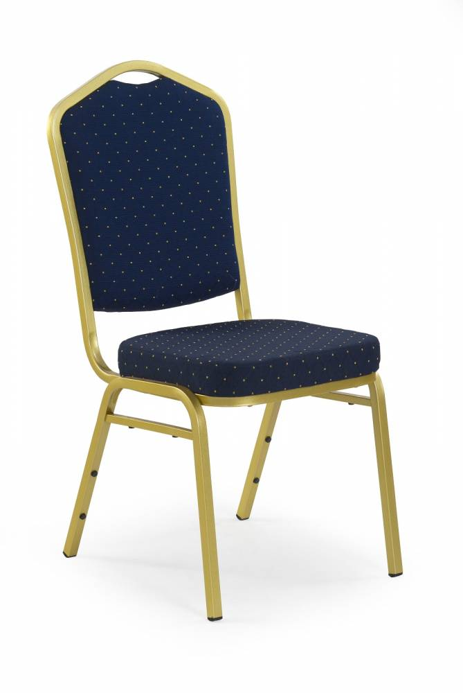 Jedálenská stolička K66 zlatá + modrá