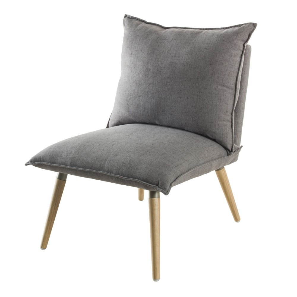 Svetlosivá čalúnená stolička Demeyere Phil