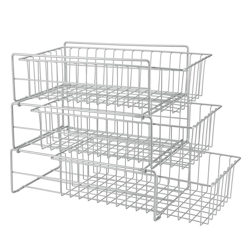 Prídavné trojposchodové poličky do kuchynskej skrinky Metaltex Limpio