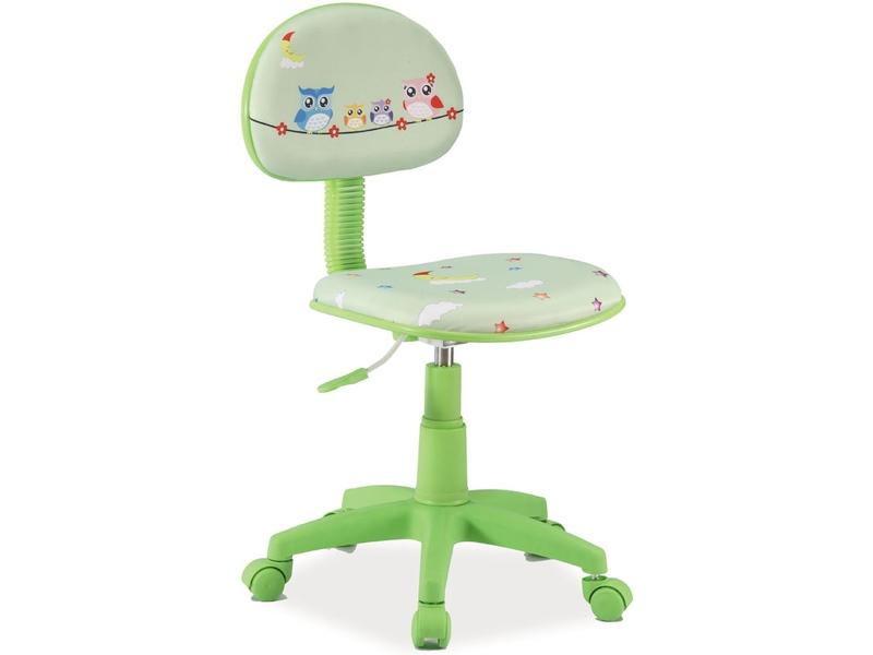 Detská stolička Hop (zelená + vzor 2)