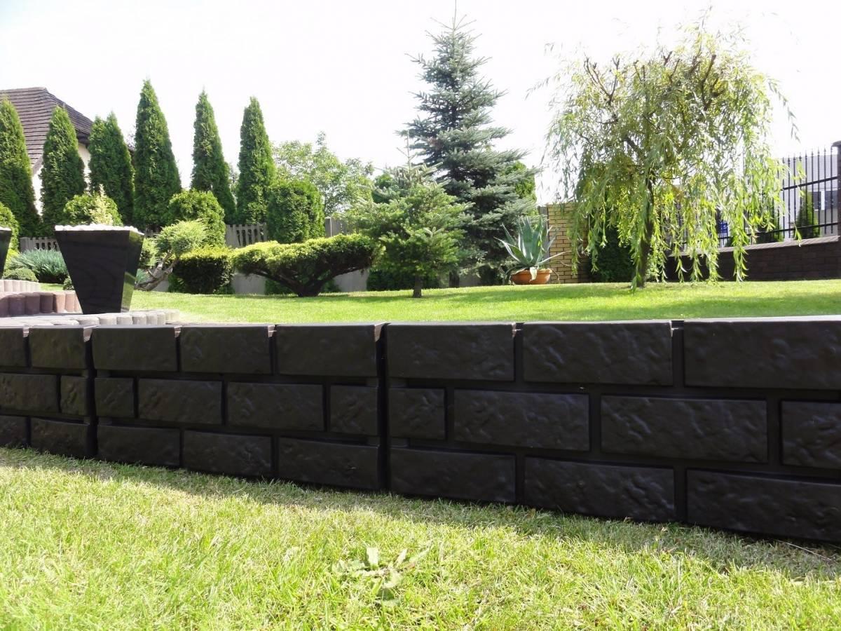 Záhradná palisáda obrubník lem trávniku, 2,2 m hnedá