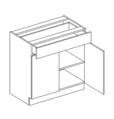 D80/S1 dolná skrinka so zásuvkou MOREEN andersen/dub lefkas