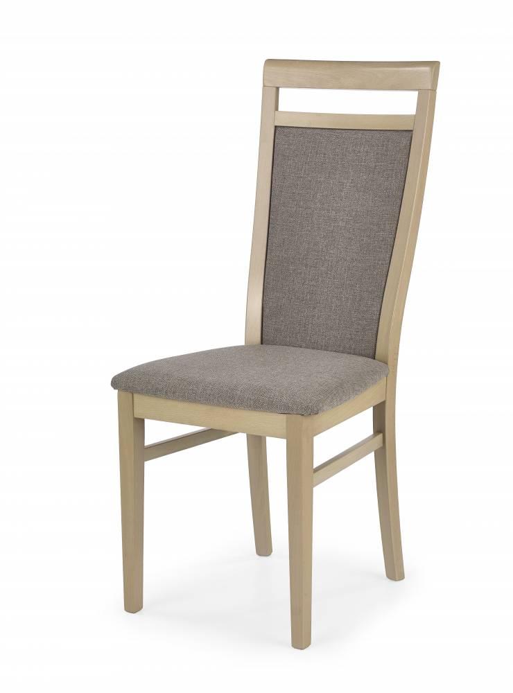 Jedálenská stolička Damian (dub sonoma + béžová)