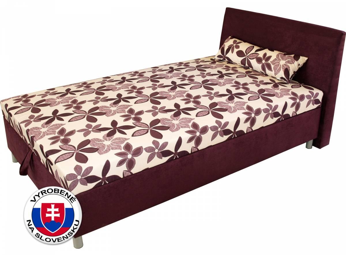 Jednolôžková posteľ (váľanda) 120 cm Benab Elsona komfort (s roštom, matracom a snímateľným vankúšom)