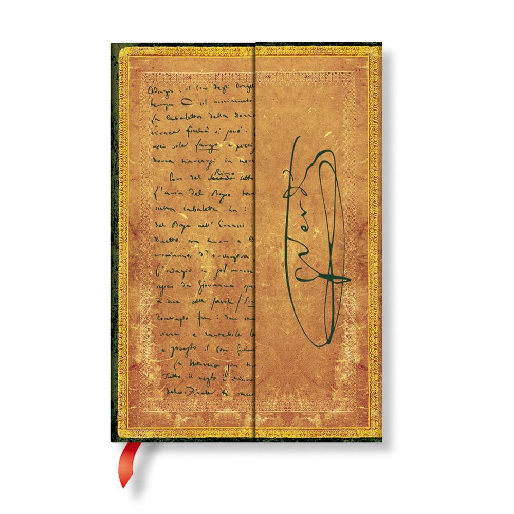 Linkovaný zápisník s tvrdou väzbou Paperblanks Verdi, 10 x 14 cm