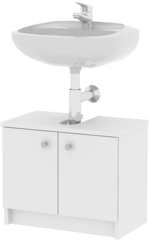 TEMPO KONDELA GALENA SI02 skrinka pod umývadlo - biela