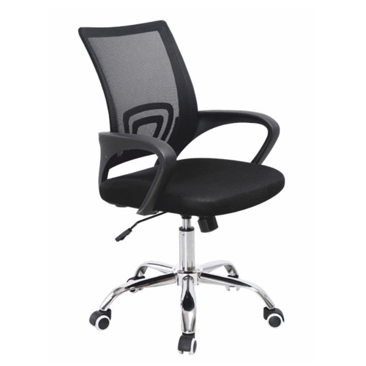 Kancelárska stolička, sieťka čierna/čierna, DEX