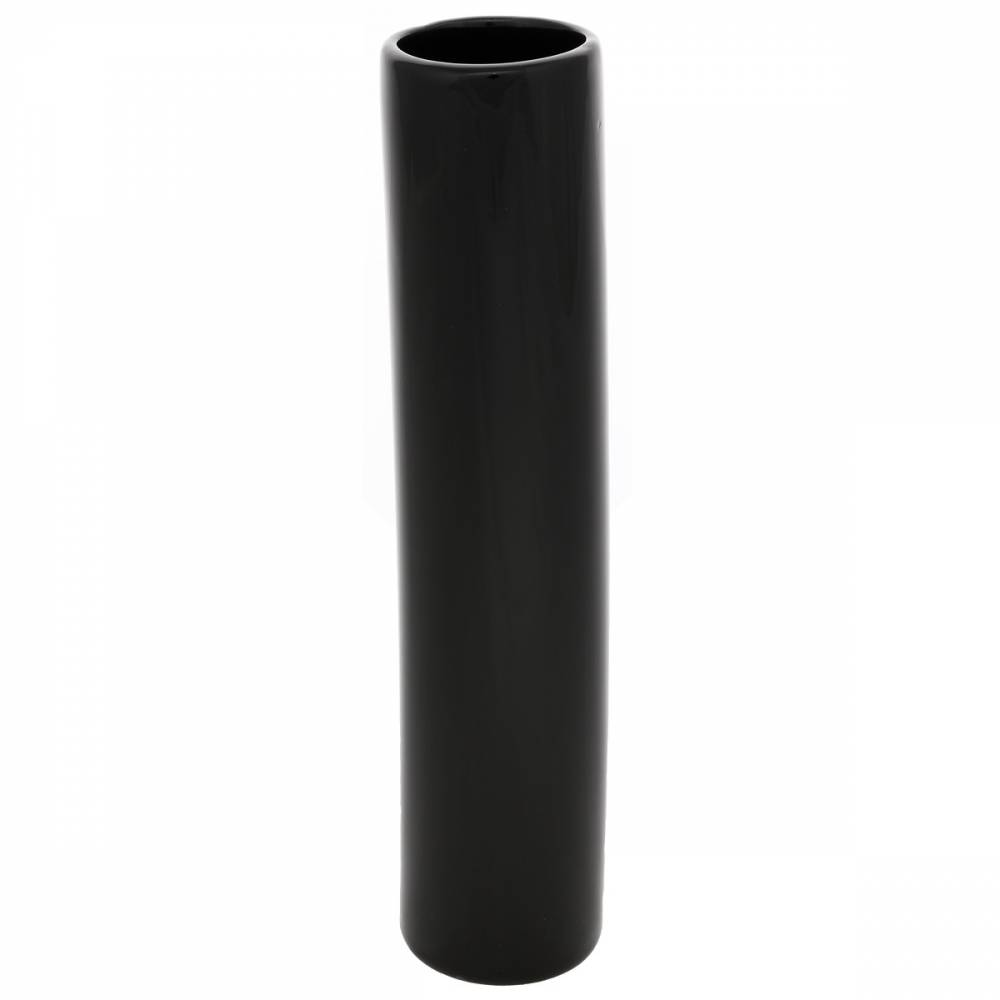 Keramická váza Tube, 5 x 24 x 5 cm, čierna
