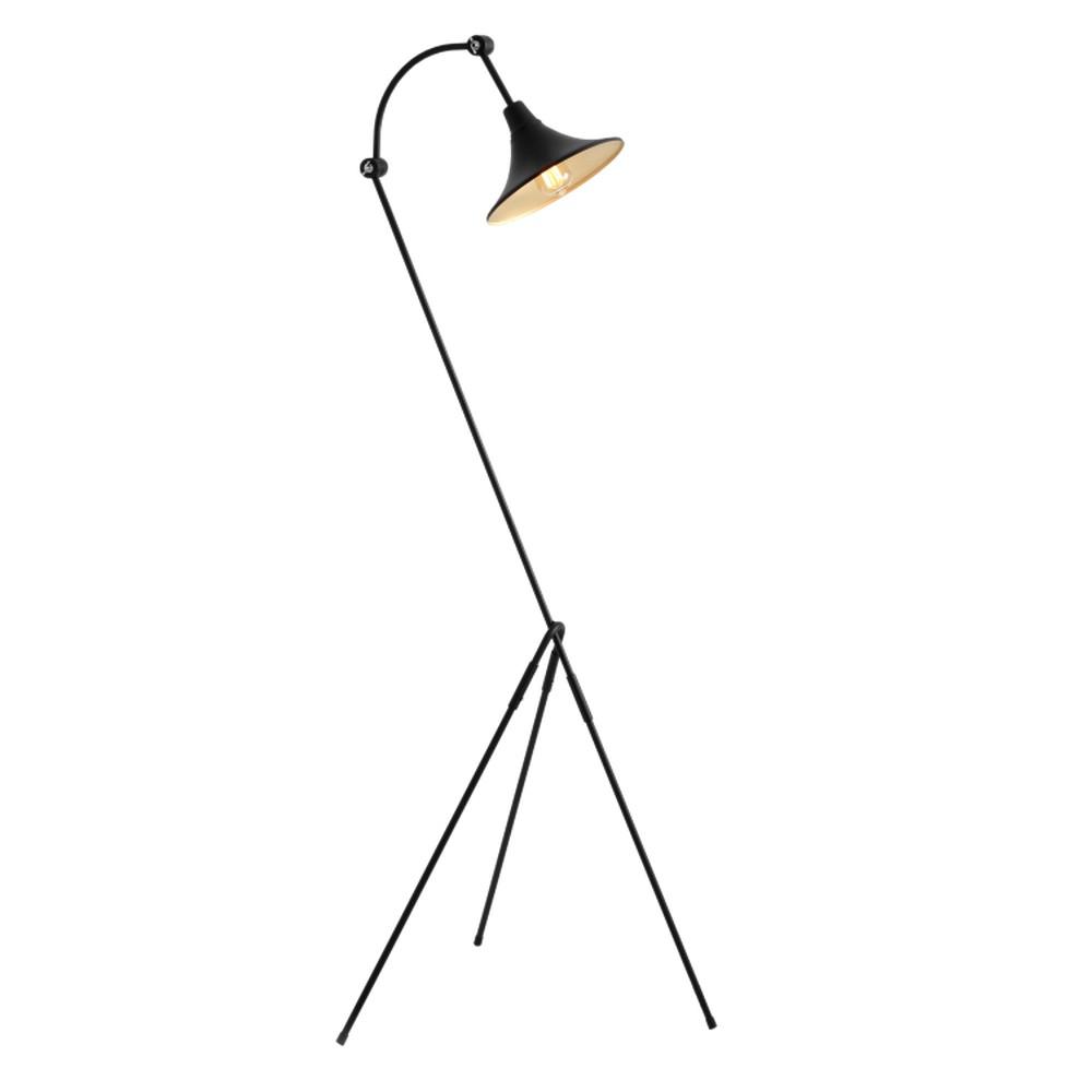 Čierna stojacia lampa Custom Form Miller
