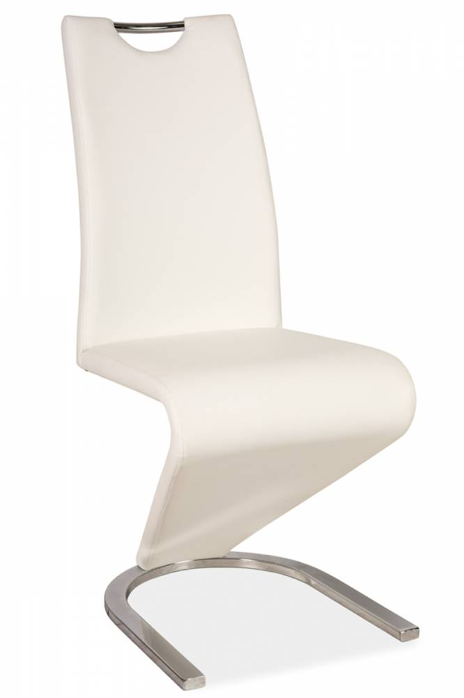 Jedálenská stolička HK-090, biela/chróom