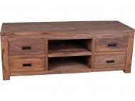Furniture nábytok  Masívny Tv stolík s 4 zásuvkami  z Palisanderu  Sundar  140x50x50 cm