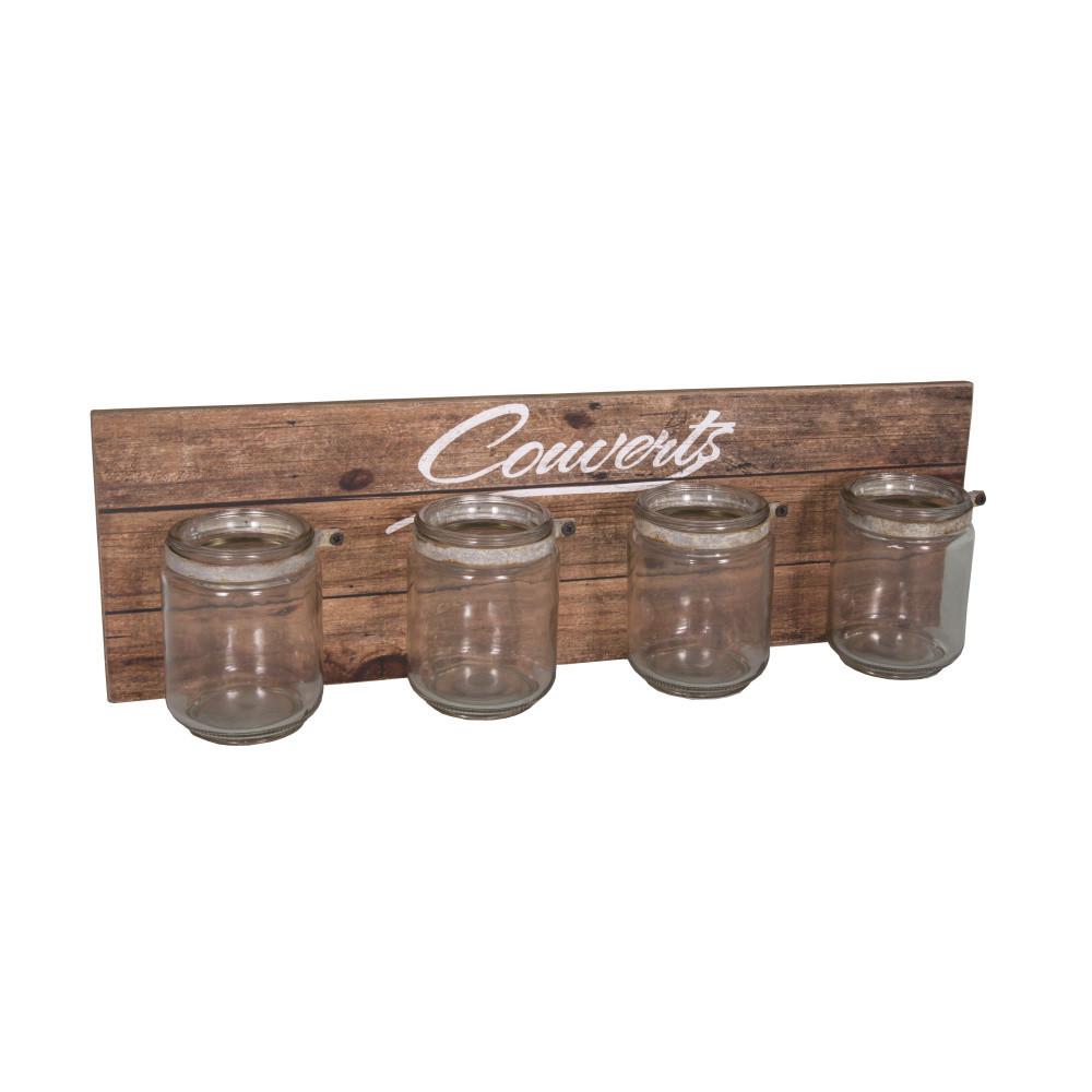 Set 4 pohárov a nástennej police Antic Line