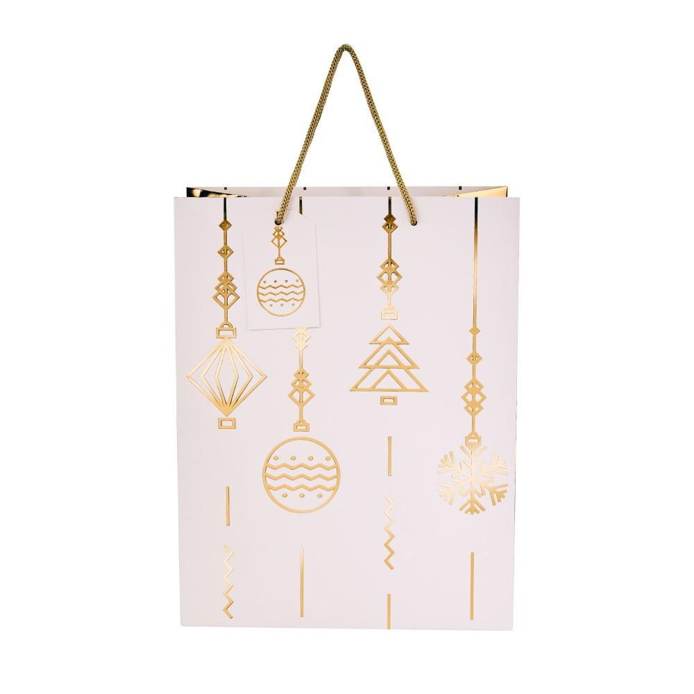 Darčeková taška Butlers Ornamenty, výška 13,5 cm