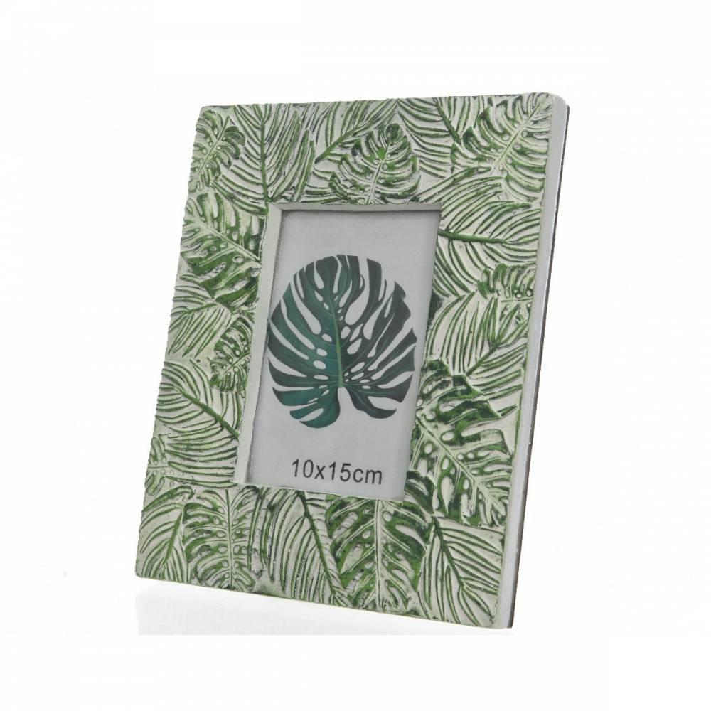 Fotorámček Leaves zelená, 23,5 cm