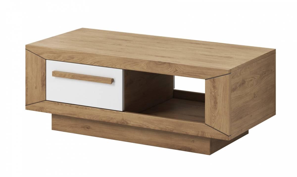 Konferenčný stolík Typ 99 (dub Beaufort + biely lesk)