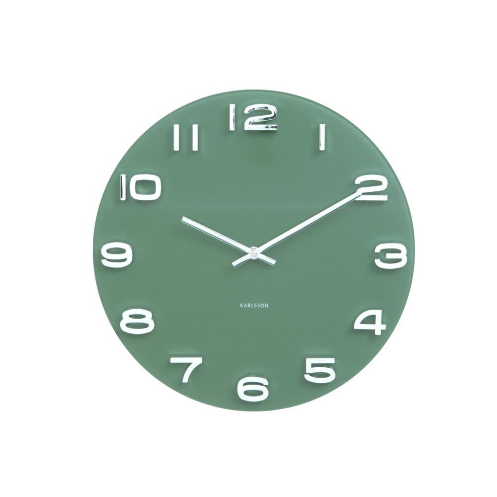 Zelené hodiny Present Time Vintage