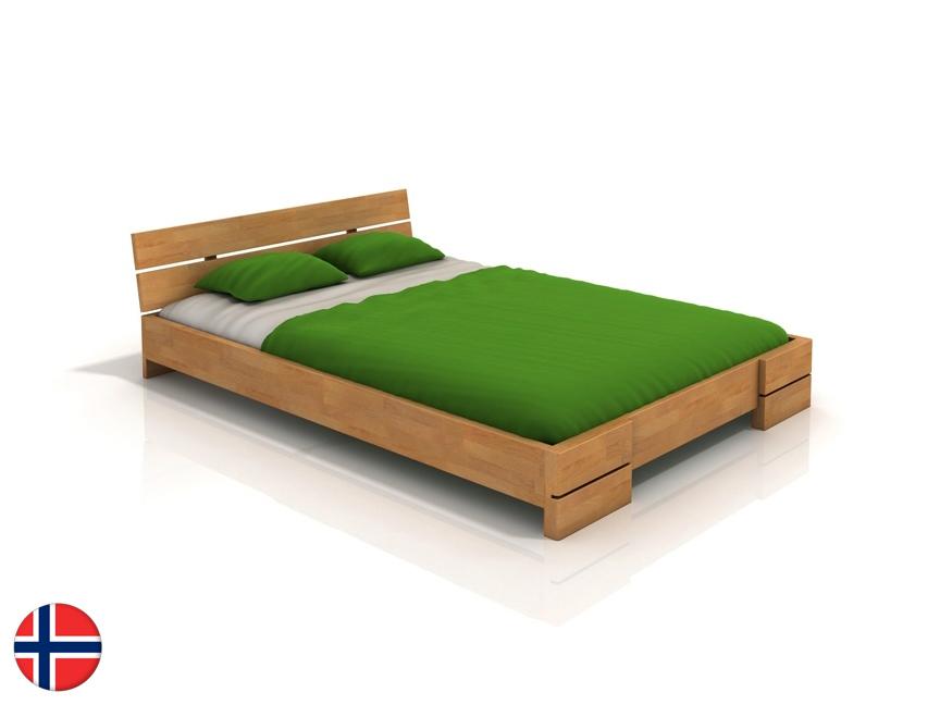 Manželská posteľ 160 cm Naturlig Lorenskog (buk) (s roštom)
