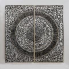Bighome - Obraz KAHU - strieborná, hnedá, sivá