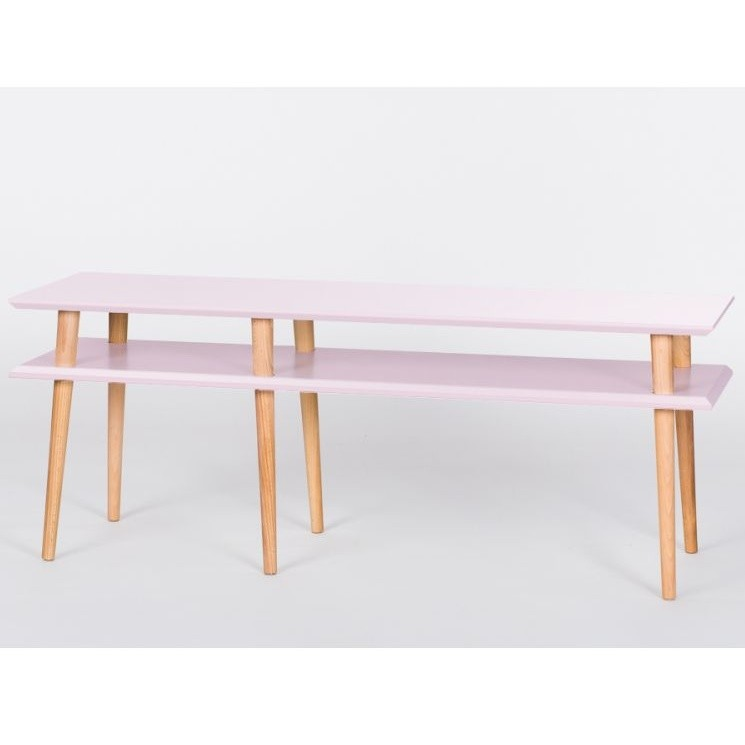 Ružový konferenčný stolík Ragaba Mugo, 139 cm